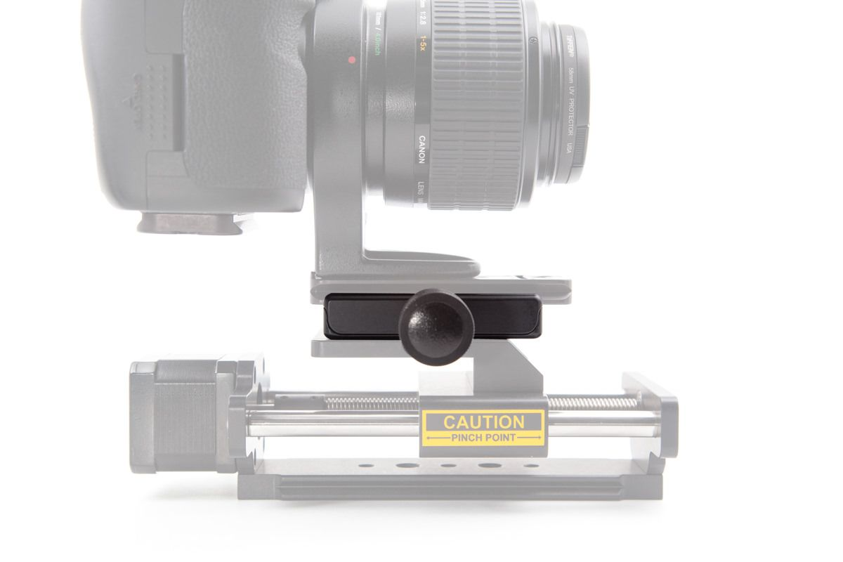 Quick Release Clamped to P-20 Lens Plate