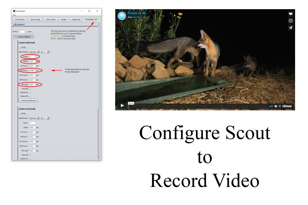 Configure the Scout Cam Box To Record Video