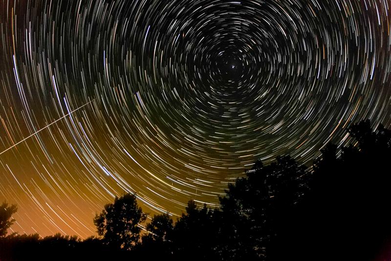 Backyard Star Trails - Traverse City