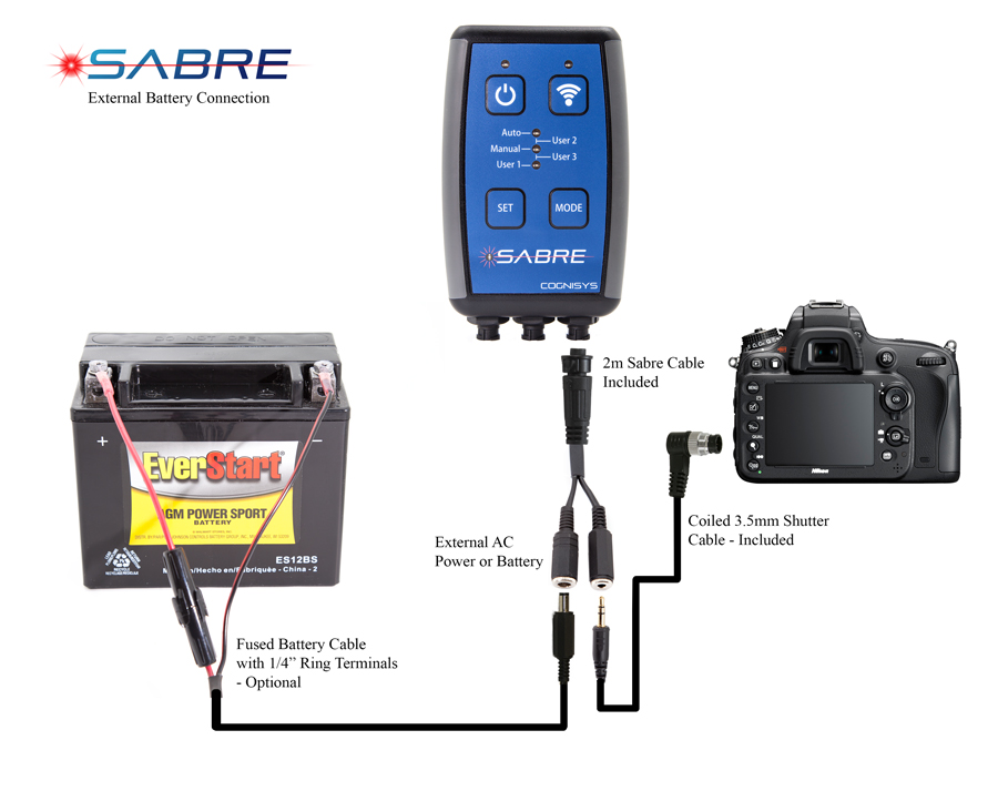 Connecting Sabre to an External Lead Acid Battery